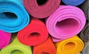 Colored felt in rolls