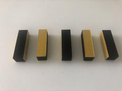 Self-adhesive foam strip on both sides