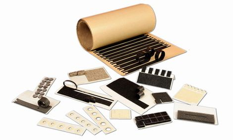Felt components for electronic industry