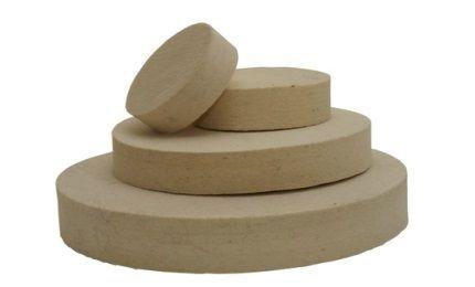 Felt wheels-medium hard (0.56 g/cm3)