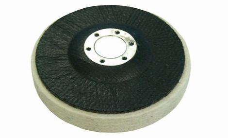 Felt wheels with glass fibre plate-medium density 0.44 g/cm3